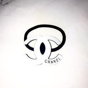 Chanel hair tie white gwp